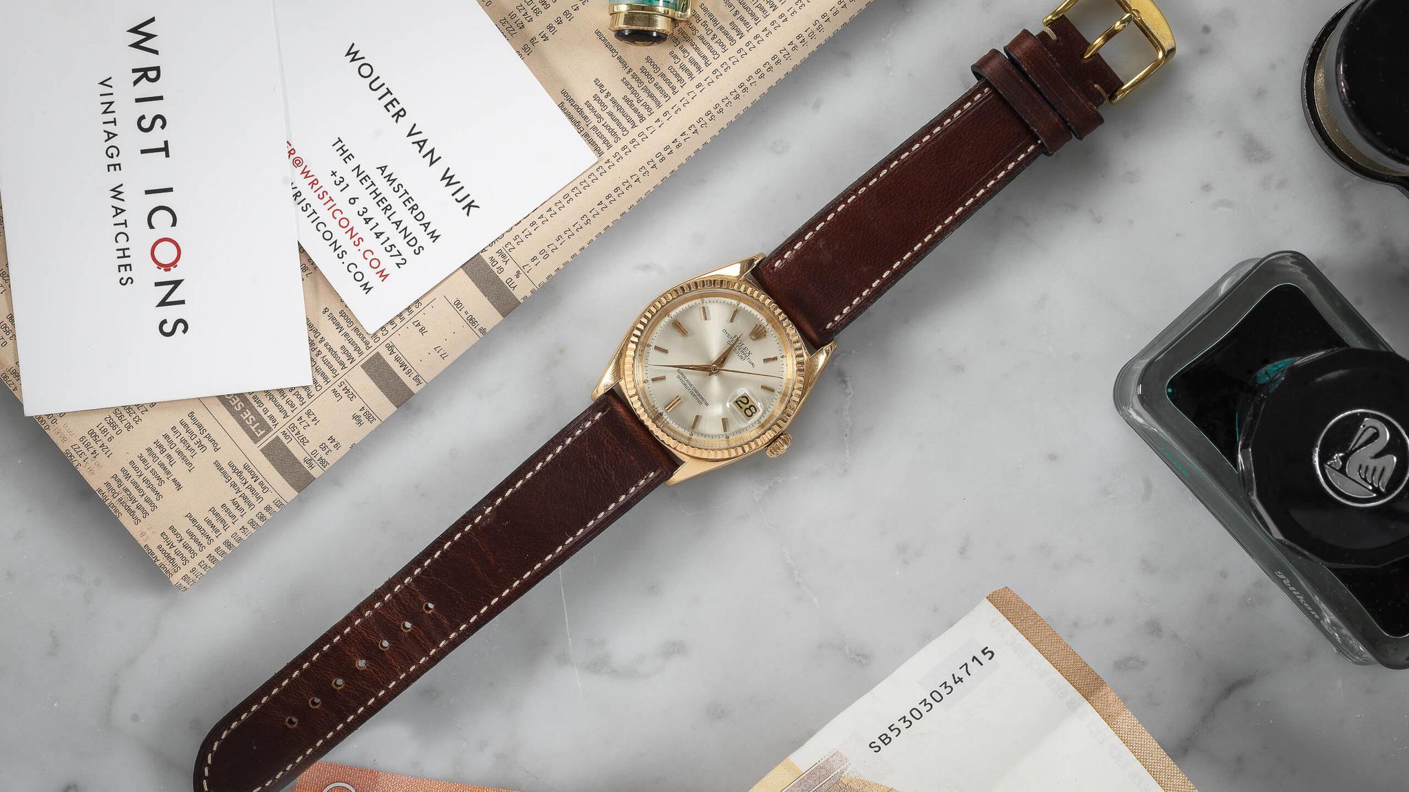 Rolex Datejust 1601 rose gold 1963