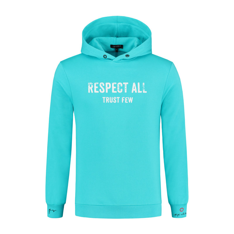 Respect All Trust Few Scuba Blue - Hoodie