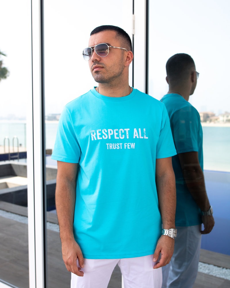 Respect All Trust Few Scuba Blue - T-shirt