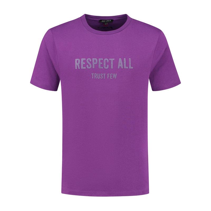 Respect All Trust Few Purple - T-shirt