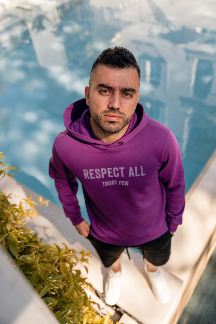 Gigi Vitale Respect All Trust Few Purple -  Hoodie