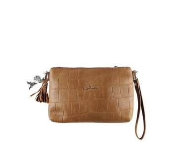 By LouLou / LouLou Essentiels Lou Lou Essentiels Pouch Vintage Croco Cognac