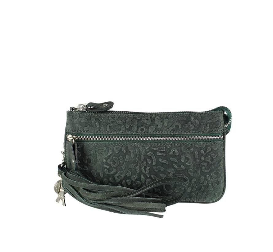 Lou Lou Essentiels Bag Pouch Lovely Leopard Green