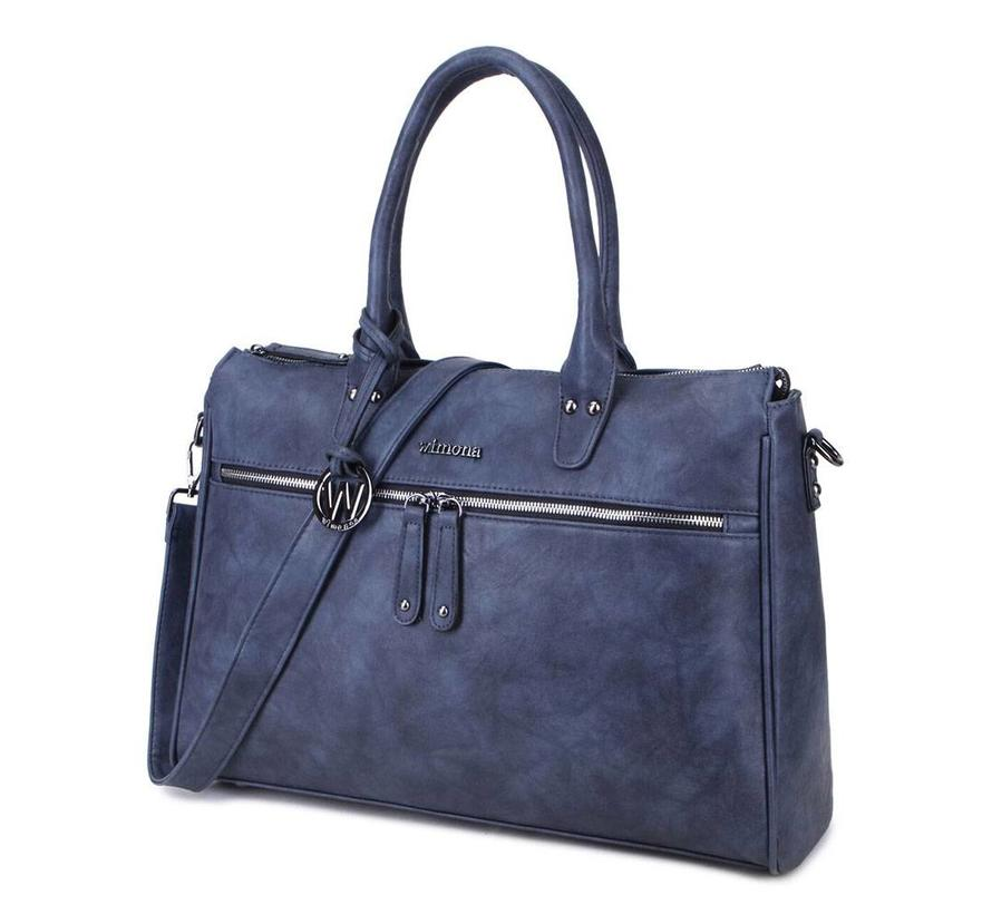 Wimona Fabiana-Two Dames Laptoptas Donker Blauw