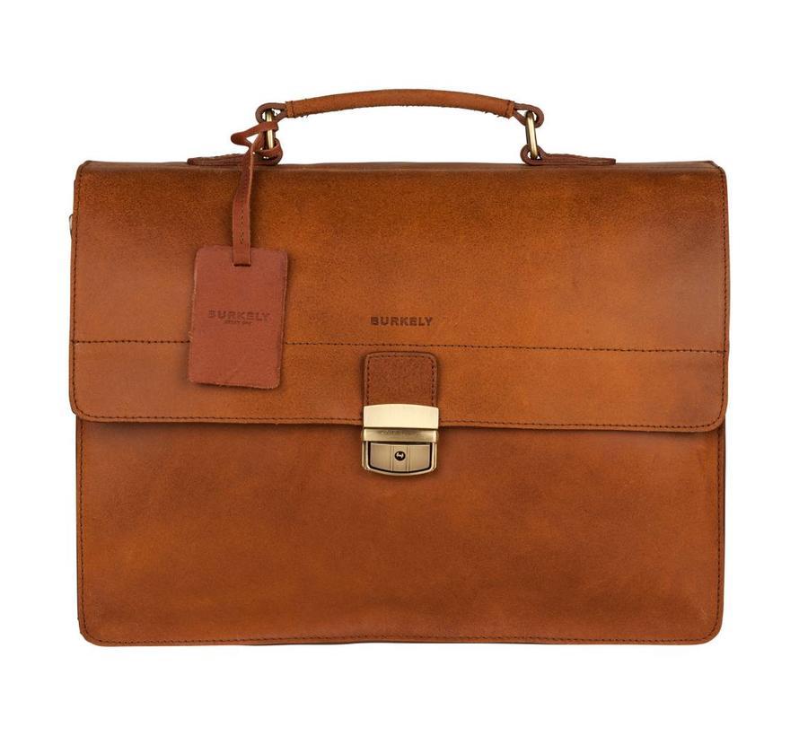 Burkely Vintage Dean Briefcase Cognac
