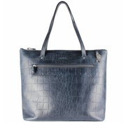 By LouLou / LouLou Essentiels Lou Lou Essentiels Medium Vintage Croco Dark Blue