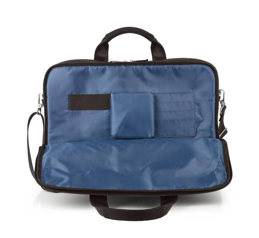 RFID Anti Skim Laptoptas 15,6 inch 3 Vakken Bruin
