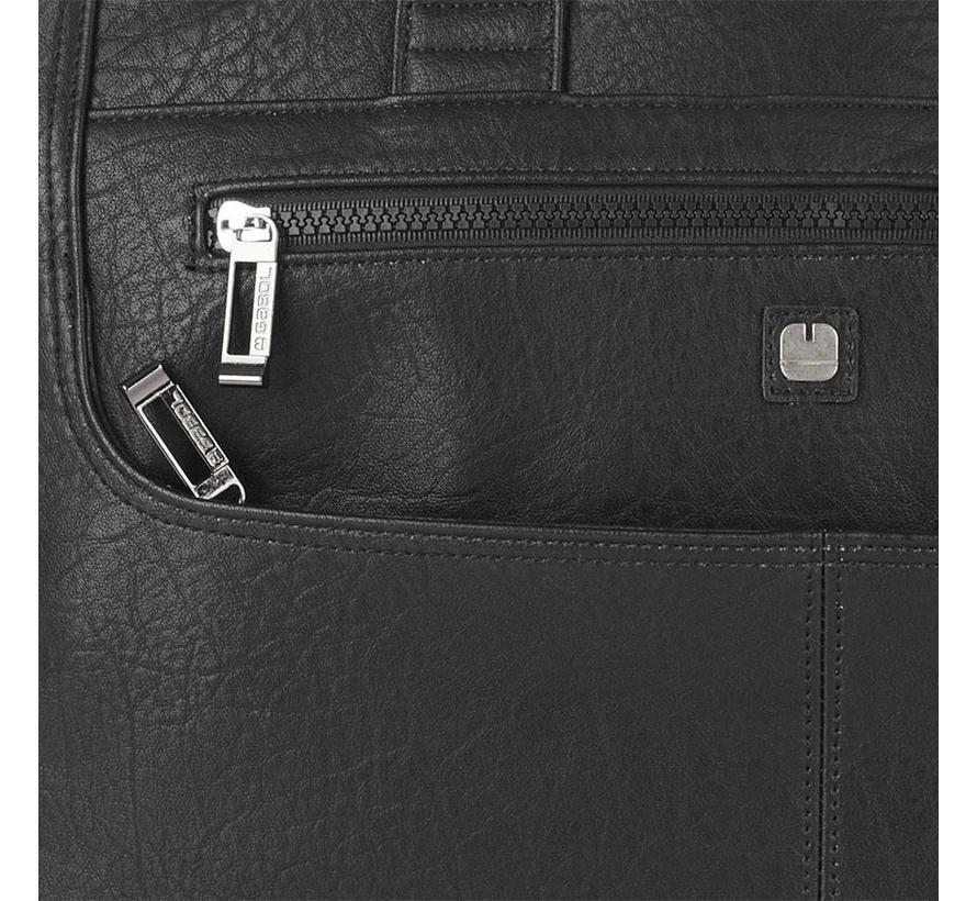 RFID Anti Skim Laptoptas 15,6 inch 3 Vakken Zwart