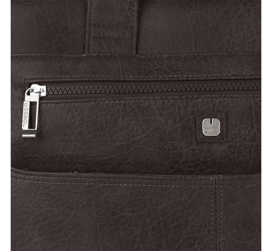 Gabol RFID Anti Skim Laptoptas 15,6 inch 2 Vakken Bruin