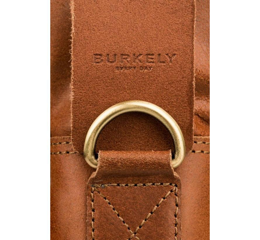 Burkely Vintage Leren Werk & Schooltas Cognac