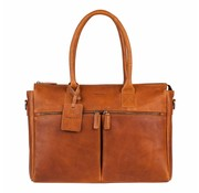 Burkely Burkely Leren Laptoptas Antique Avery 15,6 inch Cognac