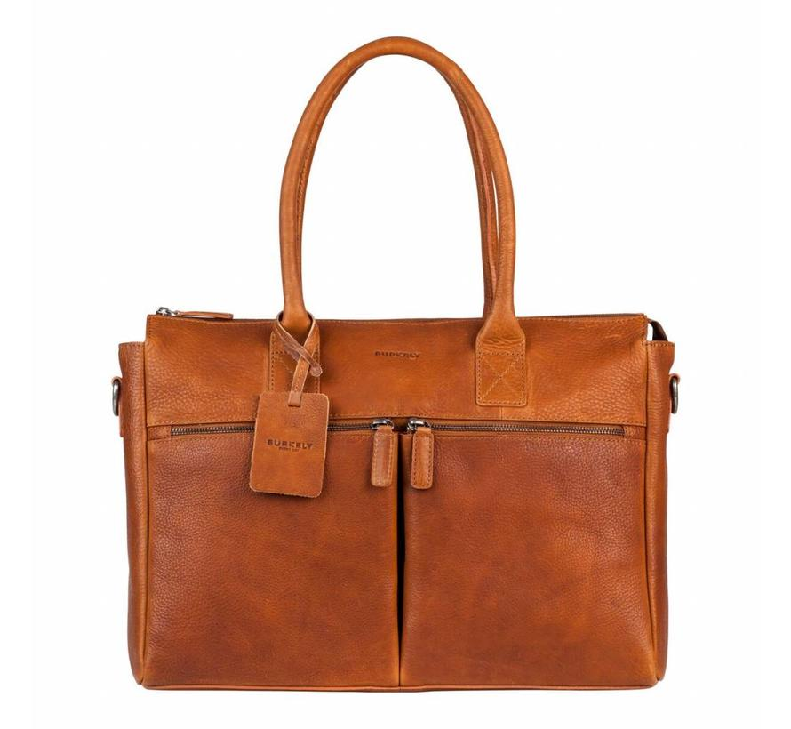 Burkely Leren Laptoptas Antique Avery 15,6 inch Cognac