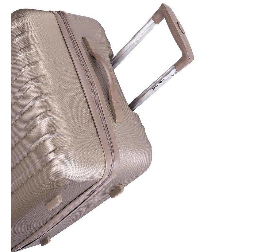 Decent Medium Koffer Tranporto One 66 Champagne