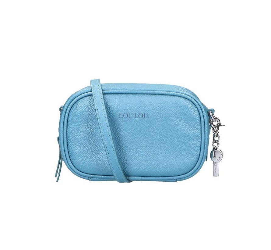LouLou Pouch Pearl Shine Light Blue