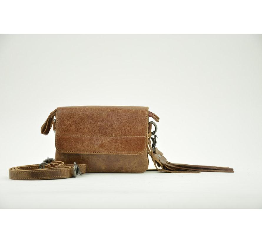 Bag2Bag Tas Met Klepje Quebec Brown