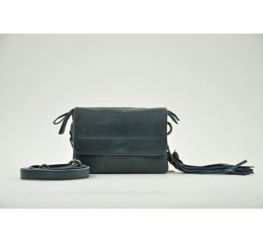 Bag2Bag Tas Met Klepje Quebec Blauw