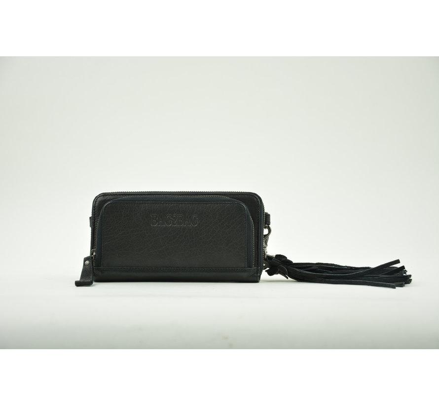 Bag2Bag Portemonnee met Telefoonvak Zwart