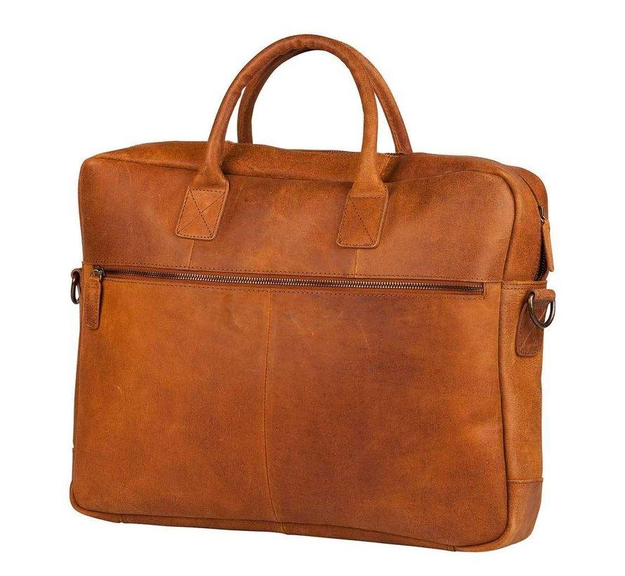 Burkely Hunter Leren Laptoptas 17 inch Cognac