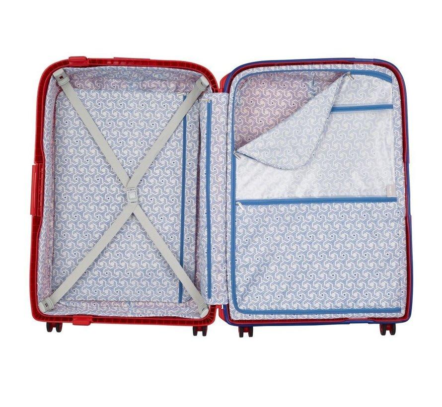 Koffer Aanbieding Moncey Medium 69 Rood