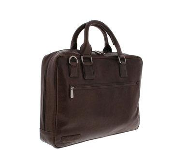 "Plevier Laptoptas 17,3"" Businessbag Surrey Bruin"
