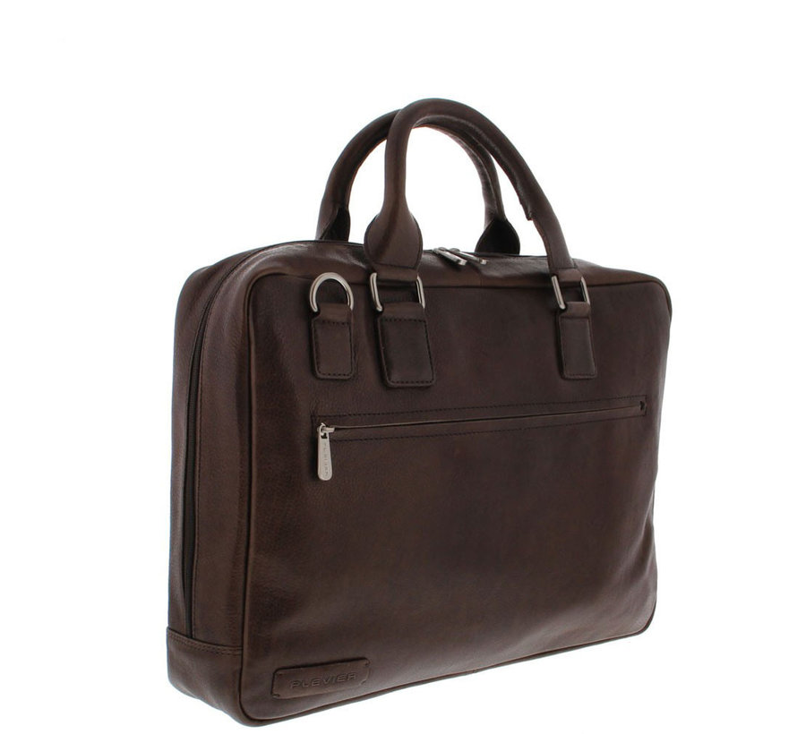 "Plevier Laptoptas 17,3"" Businessbag Surrey Bruin"