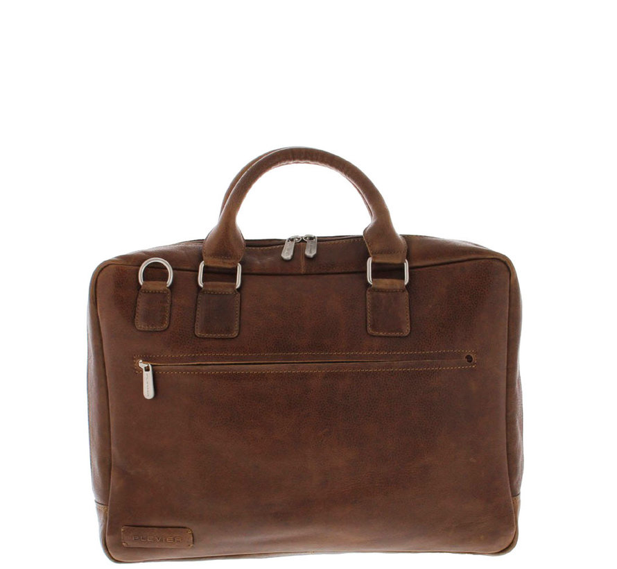 "Plevier Laptoptas 17,3"" Businessbag Surrey Cognac"