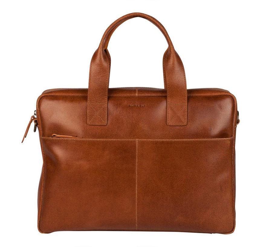 Burkely Hunter Leren Laptoptas 15,6 inch Cognac
