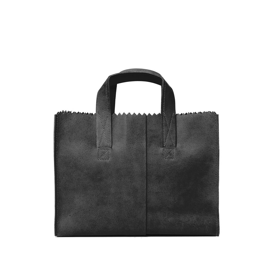 MYOMY My Paper Bag Cross-Body Handbag Off Black