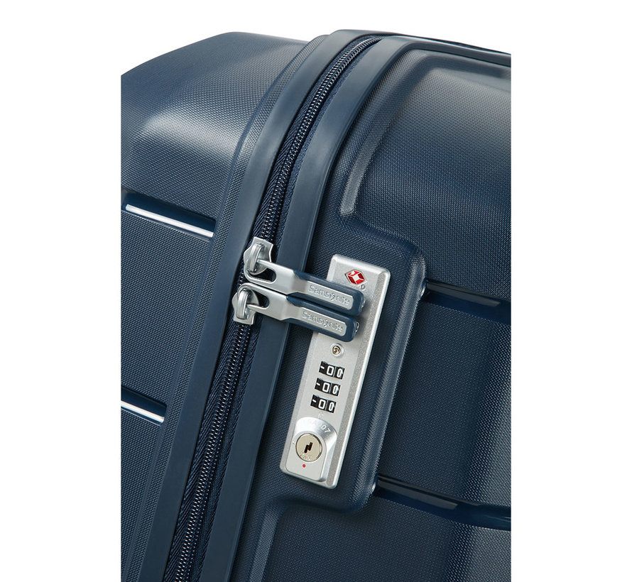 Samsonite Harde Koffer Expandable Flux 75 Blue