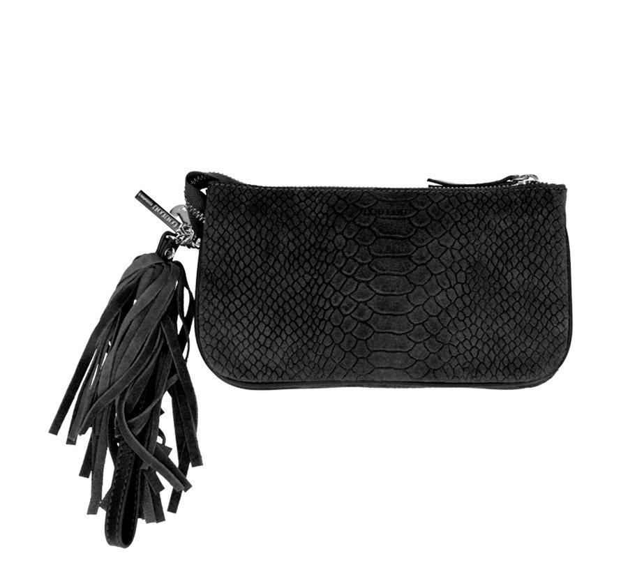 Lou Lou Essentiels Bag Pouch Suger Snake Black