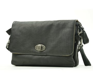 Bag2Bag Bag2Bag Spring Tas Met Klep Zwart