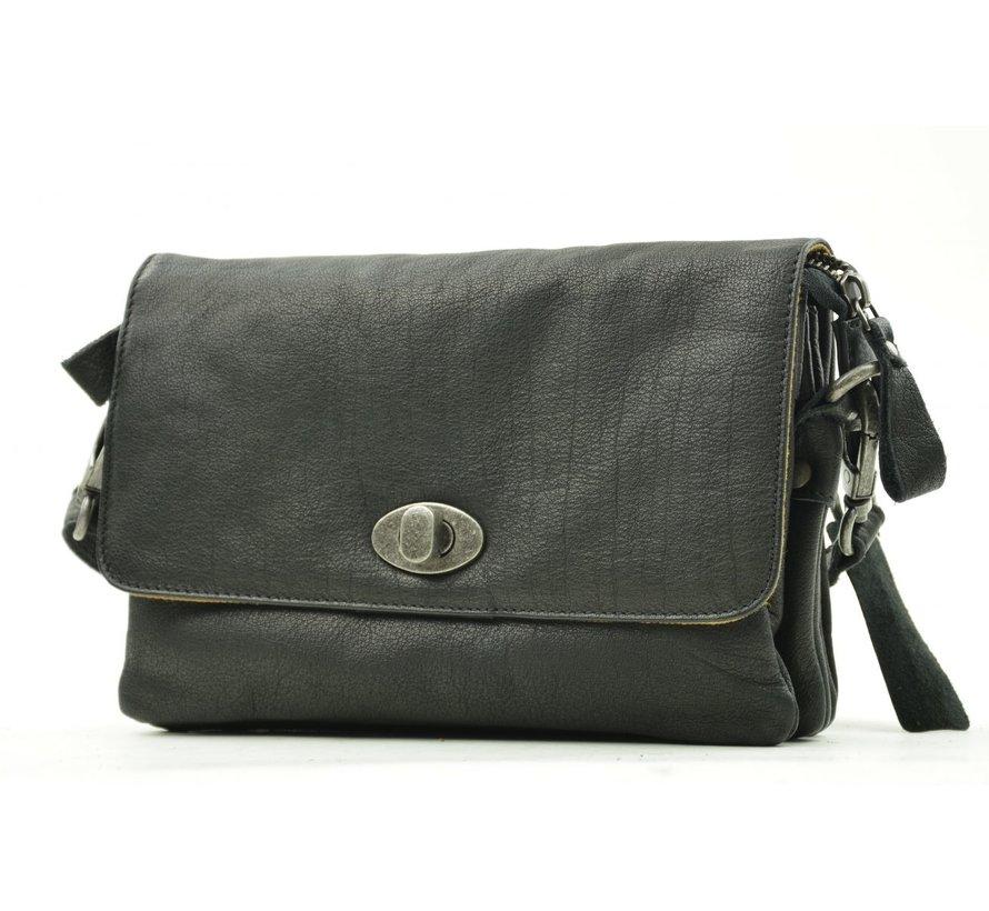 Bag2Bag Spring Tas Met Klep Zwart