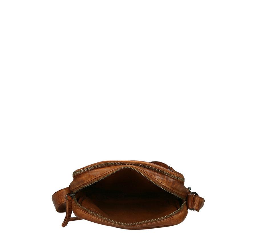 Bear Design Herentas Crossbody Medium Cognac