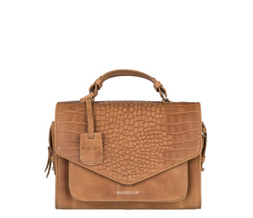 Burkely Burkely Tas Croco Cody City Bag Cognac
