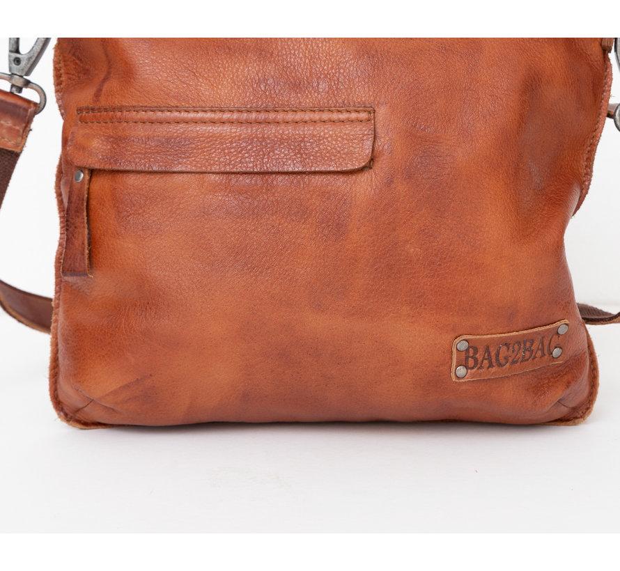 Bag2Bag Leren Handtas Rome Cognac
