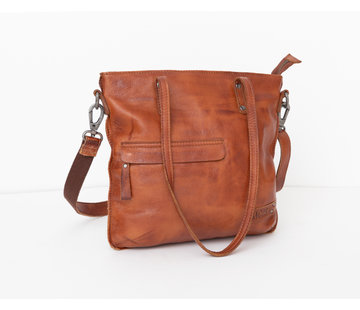 Bag2Bag Bag2Bag Leren Handtas Rome Cognac