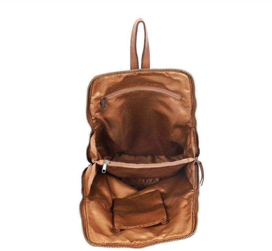 Bear Design Cow Lovato Backpack Cognac