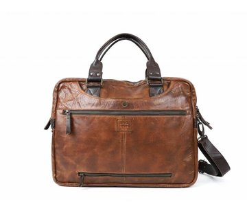 Bear Design Bear Design Leren Laptoptas Cow Lovato Cognac/Bruin