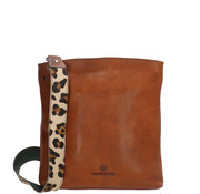 Micmacbags Wildlife Schoudertas Cognac Panter