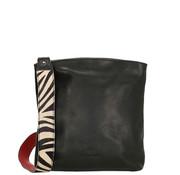 Micmacbags Micmacbags Wildlife Schoudertas Zwart Zebra