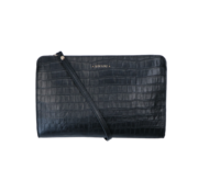 By LouLou / LouLou Essentiels Lou Lou Essentiels Crossbody Clutch Classy Croc Black