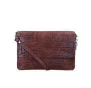 By LouLou / LouLou Essentiels Lou Lou Essentiels Crossbody Vintage Croco Bruin