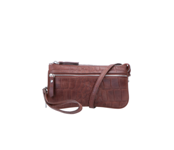 By LouLou Essentiels Pouch Vintage Croco Brown