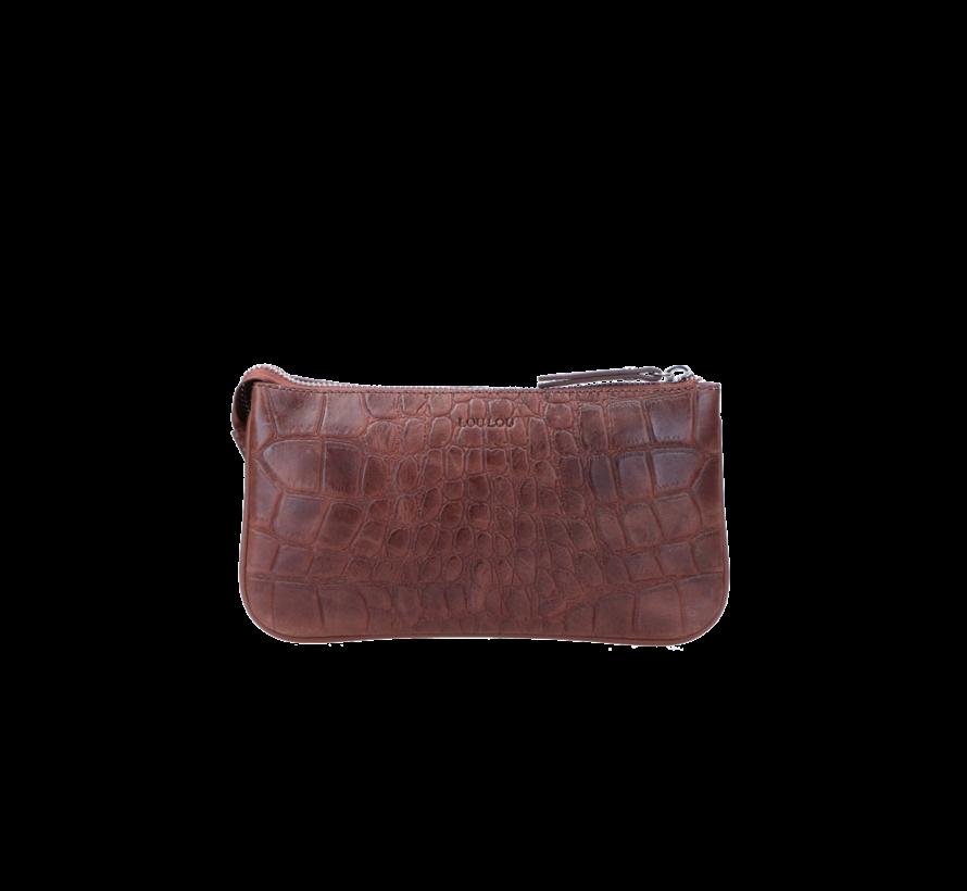 Pouch Vintage Croco Brown