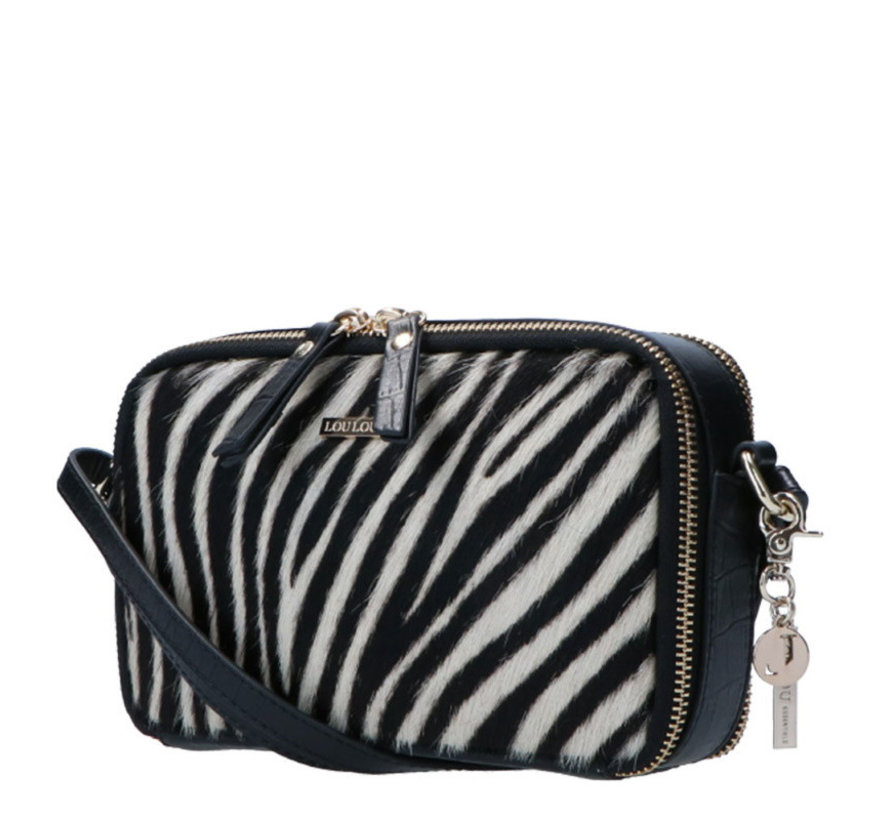 Boxy Crossbody Wild Zebra
