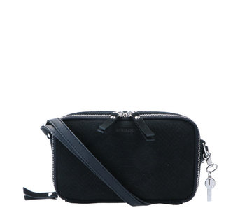 By LouLou Essentiels Boxy Crossbody Snake Black