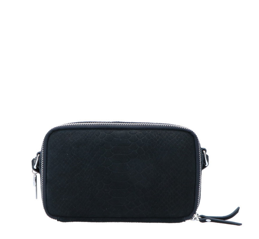 Lou Lou Essentiels Boxy Crossbody Snake Black