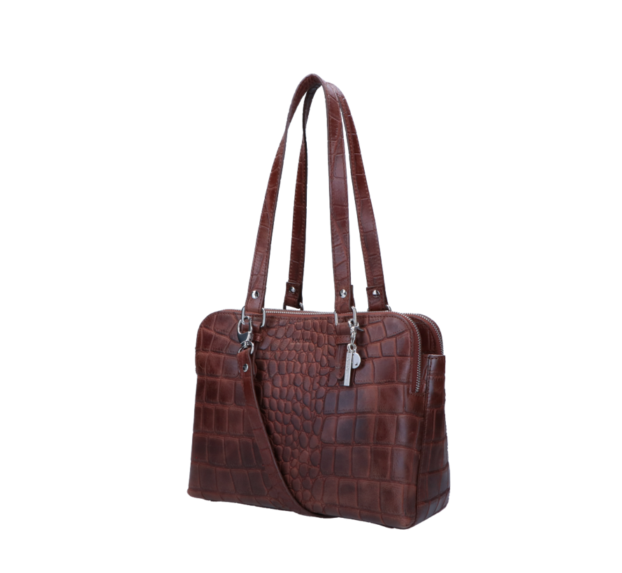 Lou Lou Essentiels Handtas Vintage Croco Brown
