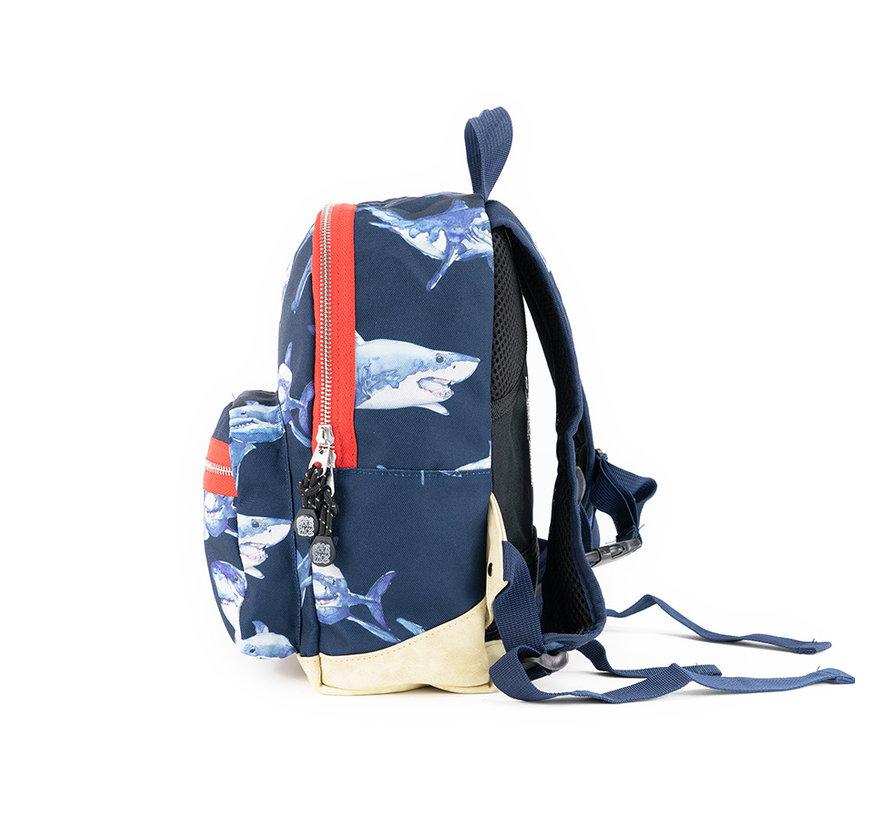 Rugzak Dark Blue Shark Pick & Pack Small Kinder Rugzak