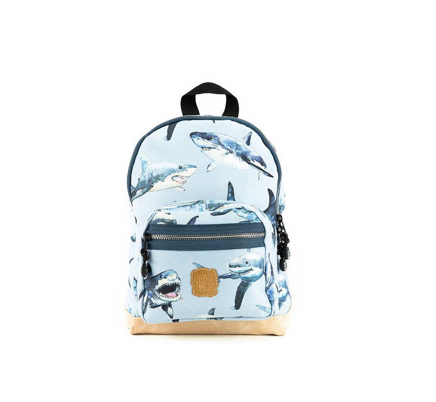 Rugzak Light Blue Shark Pick & Pack Small Kinder Rugzak